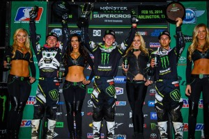 The Monster Energy/Pro Circuit/Kawasaki squad started the East off perfect. Photo by: Hoppenworld