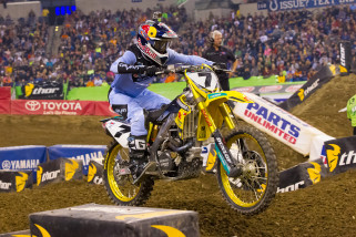 Yoshimura Suzuki's James Stewart Finishes Seventh At Indy Supercross Despite Lap-One Collision
