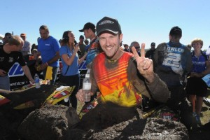 Bithell is all smiles after a second place finish - Photo: Ken Hill