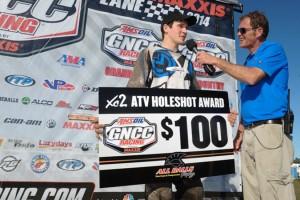 Randy Hamilton earned the $100 All Balls Racing XC2 Holeshot Award - Photo: Ken Hill