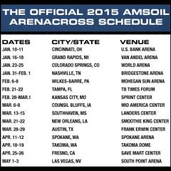 2015 AMSOIL Arenacross Schedule